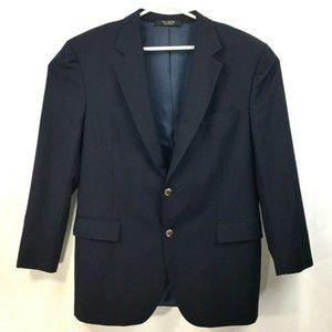 Jos A Bank Navy Blue Blazer - Gold Buttons - 43R